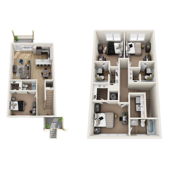 Carter Townhome Rendering