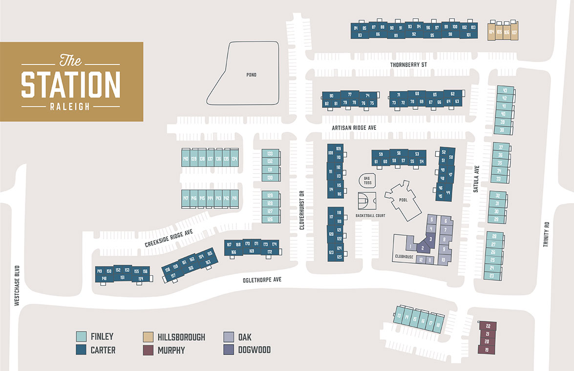 Site Plan of The Station Raleigh